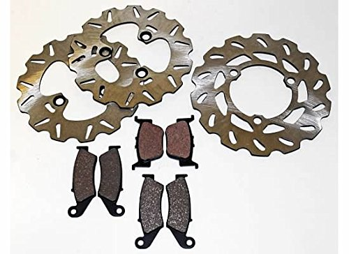 Honda TRX450R TRX 450 R Front and Rear Brake Pads and Sport Rotors by CycleATV