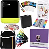 Polaroid POP Instant Camera (Yellow) Gift Bundle + ZINK Paper (20 Sheets) + 8x8'' Cloth Scrapbook + Pouch + 6 Edged Scissors + 100 Sticker Border Frames + Markers + Hanging Frames + Album