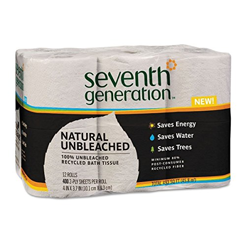 (Seventh Generation 2 Ply Unbleached Recycled Bath Tissue - 12 Rolls per Pack - 4 Packs per case.)