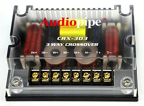 2) NEW AUDIOPIPE CRX-303 600 Watt 4-Ohm 3-Way Car Audio Passive Crossovers - Audiopipe 3 Way Electronic