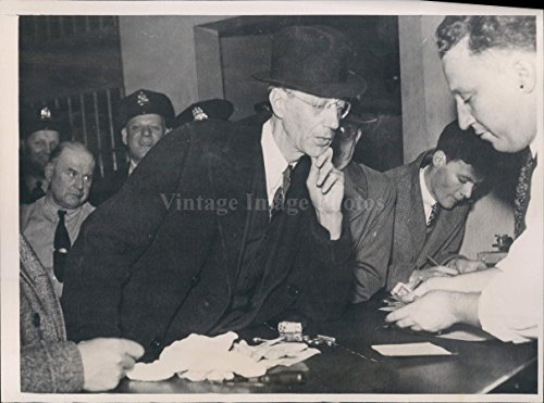 - 1935 Attorney Wilfred Jones Booked After Arrest Perjury Ware Case Photo