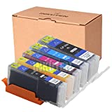INKUTEN (TM) Compatible Ink Cartridge Replacement for Canon PGI-250XL CLI-251XL High Yield (1 large Black, 1 Cyan, 1 Magenta, 1 Yellow, 1 Small Black) - 5 Pack