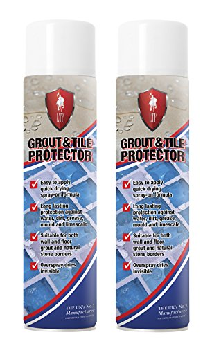 2 X LTP Grout Sealer Tile Protector Spray Can Aerosol 600ml