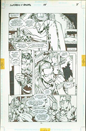 Superboy and the Ravers #15 Josh Hood Original Comic Art Page #5 DC Comics 1997 (Comic Art Book Original)