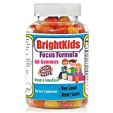 Best Brain Focus and Attention Supplement for Kids and Teens, Chewable Brain Supplement Factor Gummies, Brain and Memory Power Boost, Brain and Focus Supplements Omega add natural supplements for kids