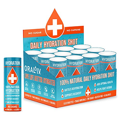Hydration Water Shot, Daily and Sports Hydration Liquid, Natural and Organic - ORAL I.V.