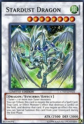 Stardust Dragon GLD3-EN037 Limited Edition Gold Rare Yugioh Card