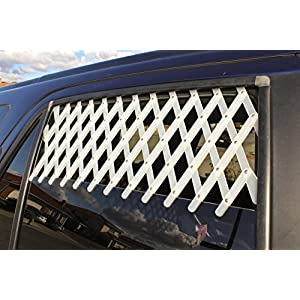 (Extra Large, White) – Car & Truck Window Pet Gate Click on image for further info.