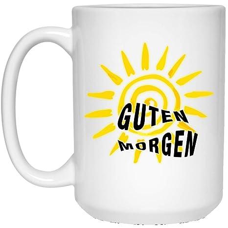 Amazoncom Gantebe Guten Morgen Coffee Mug Good Morning