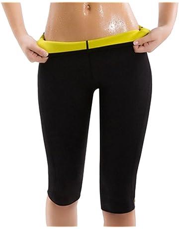 Legging Short de Sudation Amincissant Femmes Minceur en Néoprène Sweat Body  Shapers Fitness 1cf6a494043