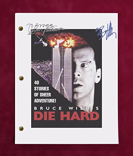 "DIE HARD MOVIE SCRIPT W/ REPRODUCTION SIGNATURES WILLIS, RICKMAN, & BEDELIA ""C3"""