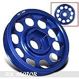 Rxmotor Honda Civic Si RSX K20 Performance Motor CNC Crank Shaft Pulley Wheel Kit Blue