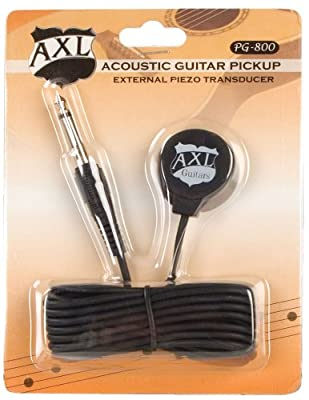 AXL Acoustic Guitar Transducer Pickup with 1/4 Jack and 9 Foot Cable by The Music Link (AXL)