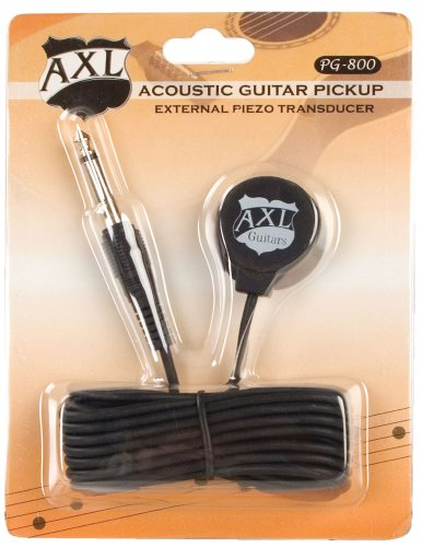 AXL Acoustic Guitar Transducer Pickup with 1/4 Jack and 9 Fo