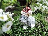 Fairy Garden Santa Bunny