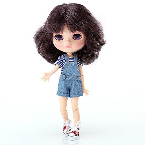 The 12 Inch Nude Doll is Similar to Blyth BJD Doll, Customized ICY Dolls Can Be Changed Makeup and Dress by DIY, Ball Jointed Dolls Best Gifts and Hobby For Girls