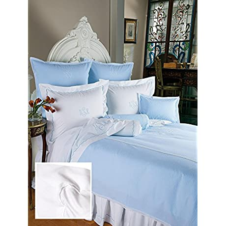 Scallops Sheet Sets King 1 Flat 1 Fitted 2 Std Shams White