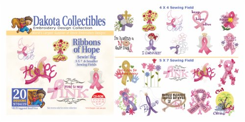Dakota Collectibles - Ribbons of Hope Multi Format Embroidery Designs CD - 970419 (Dakota Designs Embroidery Machine)