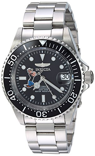 Invicta Men's Character Collection Automatic-self-Wind Watch with Stainless-Steel Strap, Silver, 14 (Model: 24486)