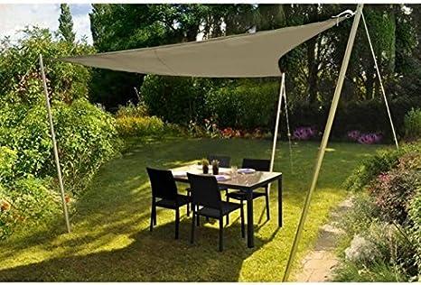 AUCUNE - Voile ombrage Triangle 3,00 m 170 gr/m² Sable/taup: Amazon.es: Hogar