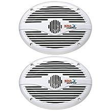 """BOSS MR690 Speakers, 6""""X9"""" 2-Way, 350 Watt, White"""