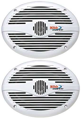 Boss Audio Systems MR690 350 Watt Per Pair, 6 x 9 Inch, Full Range, 2 Way Weatherproof Marine...