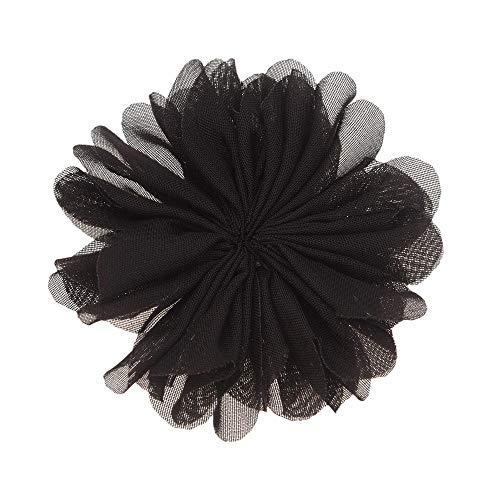 Boutique Rosette - 16Pieces/lot Rosette Flower Boutique 7cm Puff Flower Chiffon Flowers Hair Accessories Boutique Accessory Headwear No Clips No Barrette