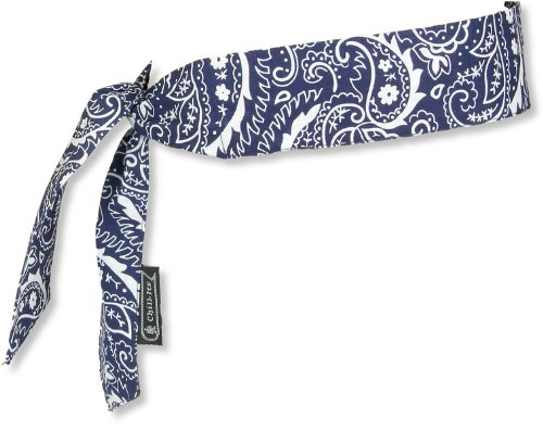 12 Pack Chill-Its 6700 Evaporative Cooling Bandana - Tie Style - Navy Blue Western Design (12306)