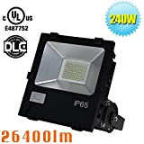 1000W-1500 Watt HPS HID Equivalent 240W LED Flood Light-Bright White 5700K Commercial Security Lights,110/120/208/220/240/277 Volt Parking Lot Floodlight UL DLC Qualified