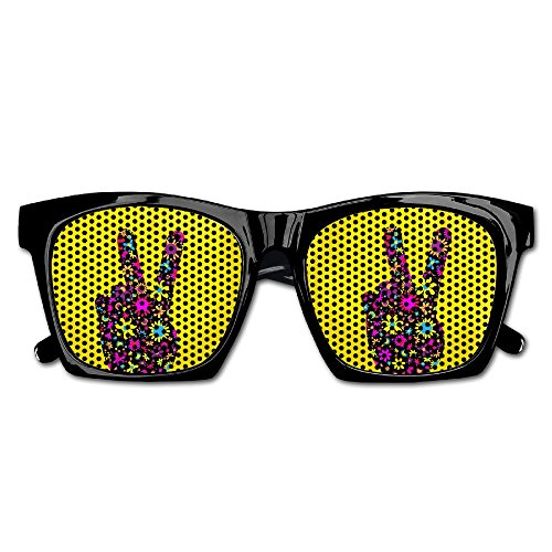 Xing Stars Colorful Summer Unisex Floral Peace Hand Sign Fashion Party Costume Sunglasses