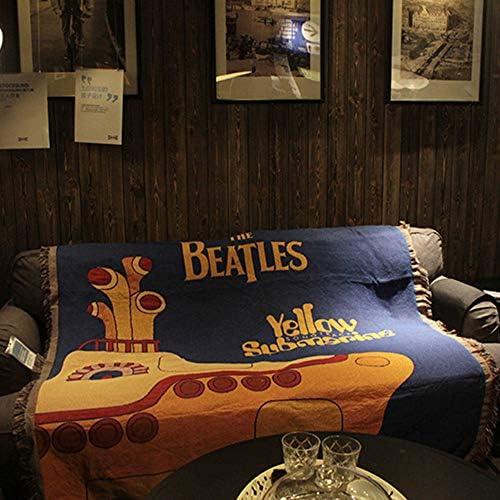 Algodón Vintage Funda De Sofá,estrella De Rock Los Beatles Tejido ...