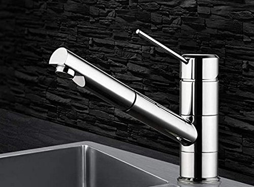 Faucet, Cold Warm Water, Double Water Outlet, All Copper drawable Telescopic Sink