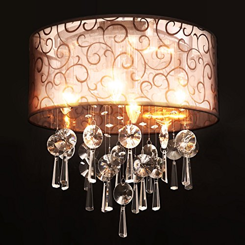 (Pendant Fixture Chandelier Light Ceiling Modern Deco Art Shade Lamp Crystal Lighting Bedroom Living Room)