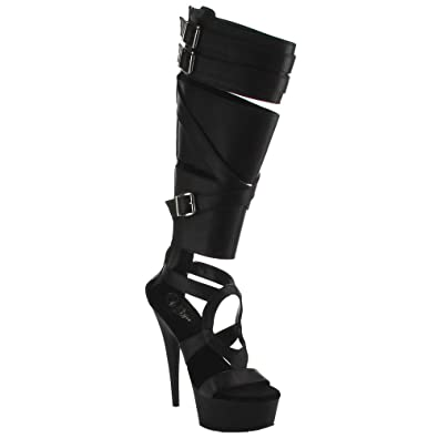 Pleaser Delight 600-43 Knee High Platform Boot (Women's) QiNxJ