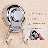 Vetap Kitchen Towel Holder Suction Cup Hooks for Bathroom or Kitchen Powerful Vacuum Stainless Steel Holder for Hanging Bathrobe,Coats,Loofah Hanger Hooks Chrome Wall Mount