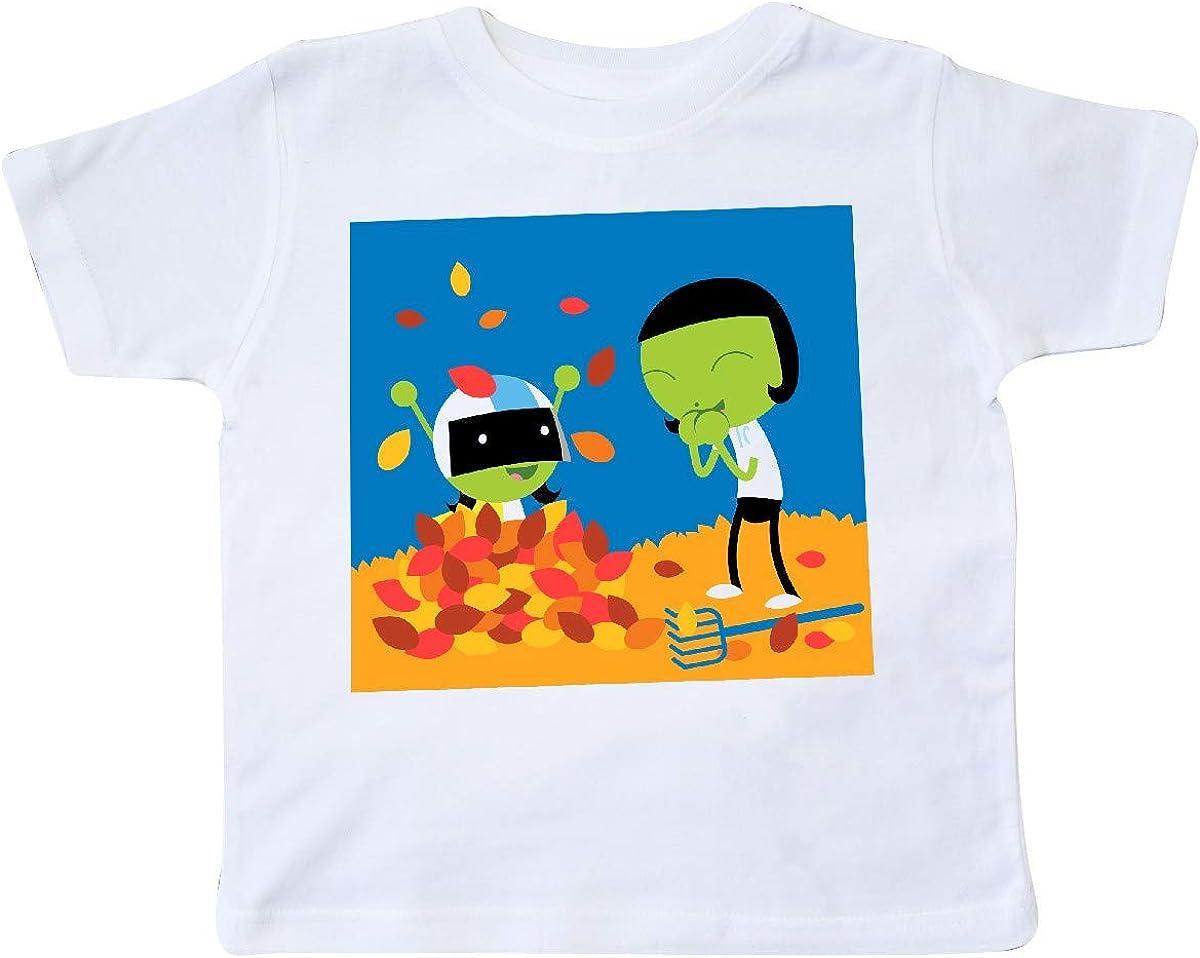 inktastic Dot and Dee Raking Leaves Toddler T-Shirt PBS Kids