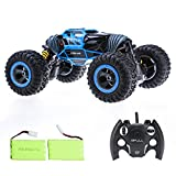 Bfull RC Cars With 2 Pieces of Batteries Double Sided Flip RC Car 2-Sided Stunt Vehicle Off-Road Vehicle 2.4Ghz 4WD High Speed 1:10 Racing Cars Transform Monster Trucks Rock Crawler Buggy Hobby Car