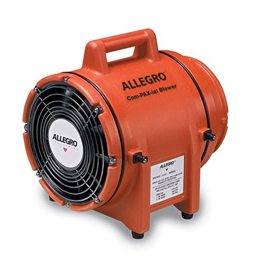 Allegro Industries 9536 Plastic Compaxial Blower, DC, 8'' by Allegro Industries