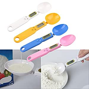 New 500/0.1g Digital LCD Measuring Food Kitchen Lab Electronic Spoon Weight Scale FS (Pink)