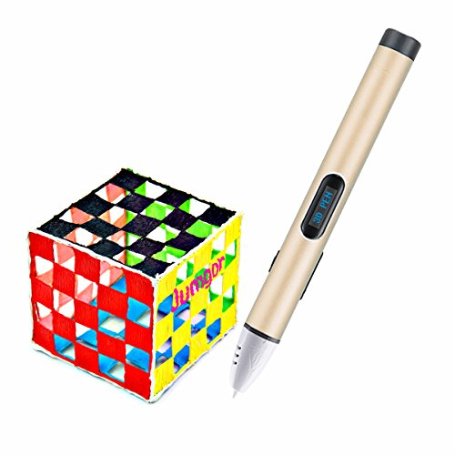 Best Present For Kids Children Adults 3d Drawing Pen LOW Temperature Printing New 3D Pen with LED Display,Aluminum Body - No Toxic No Clog and Safety for Child,PCL Filament Support 3d Printer