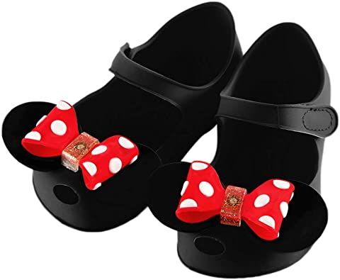 iFANS Toddler Cute Shoes Baby Girls Princess Flat Kids Leather Oxford Shoes Red