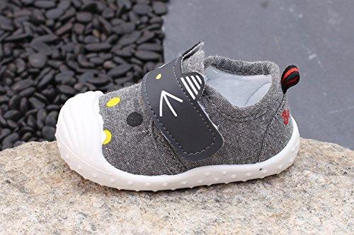 Eozy Baby Jungen Lauflernschuhe Rutschfest Weiche Sohl Kleinkind Sneaker Schuhe Schwarz