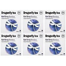 (6 PACK) - Dragonfly Tea - Earl Grey Rooibos Tea | 40 Bag | 6 PACK BUNDLE