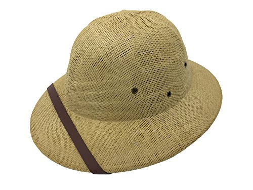 Kainozoic Adult's Safari Straw Pith Helmet Costume