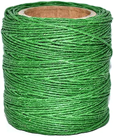 Maine Thread 210 feet Each .040 Kelly Green Waxed Polycord Includes 2 spools.