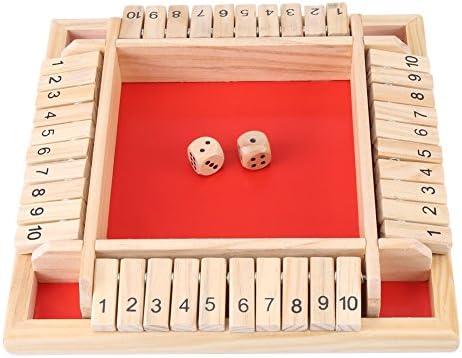 Shut The Box Dobbelspel Houten Shut The Boxspel voor kinderen en volwassenen Familiespel voor 2 tot 4 spelers of de klas thuis dobbelspellen voor feest