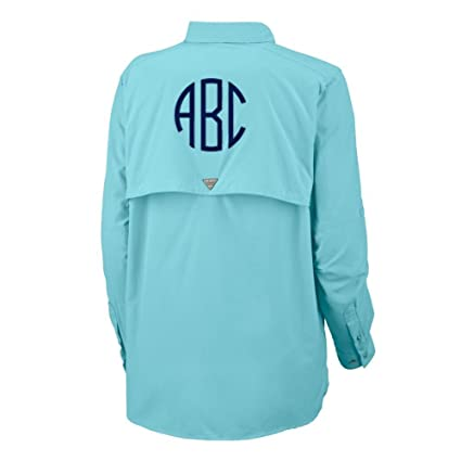 82342e6d32 Amazon.com: United Monograms Monogrammed Columbia PFG Ladies Long Sleeve  Fishing Shirt: Sports & Outdoors
