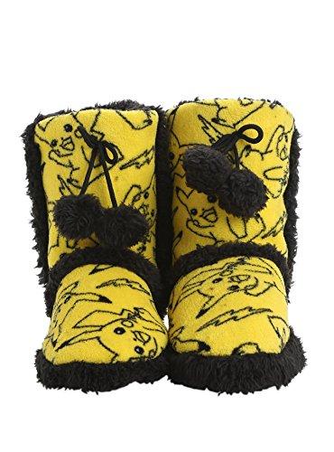 Main Street 24/7 Pokémon Pikachu Generelle Utskrifts Gul / Svart Boot Tøfler - Størrelse Damer Mellom