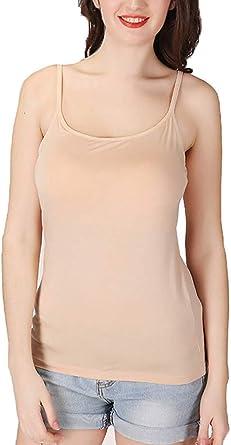 FLYFISH - Camiseta Interior de Tirantes para Mujer sin Costuras, Ajustable, sin Aros, 100% algodón Rosa Carne XXXXL: Amazon.es: Ropa y accesorios