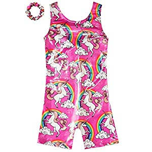 Gymnastics Leotards for Girls Sparkly Unicorn Biketard Outfits Activewear Quick Dry